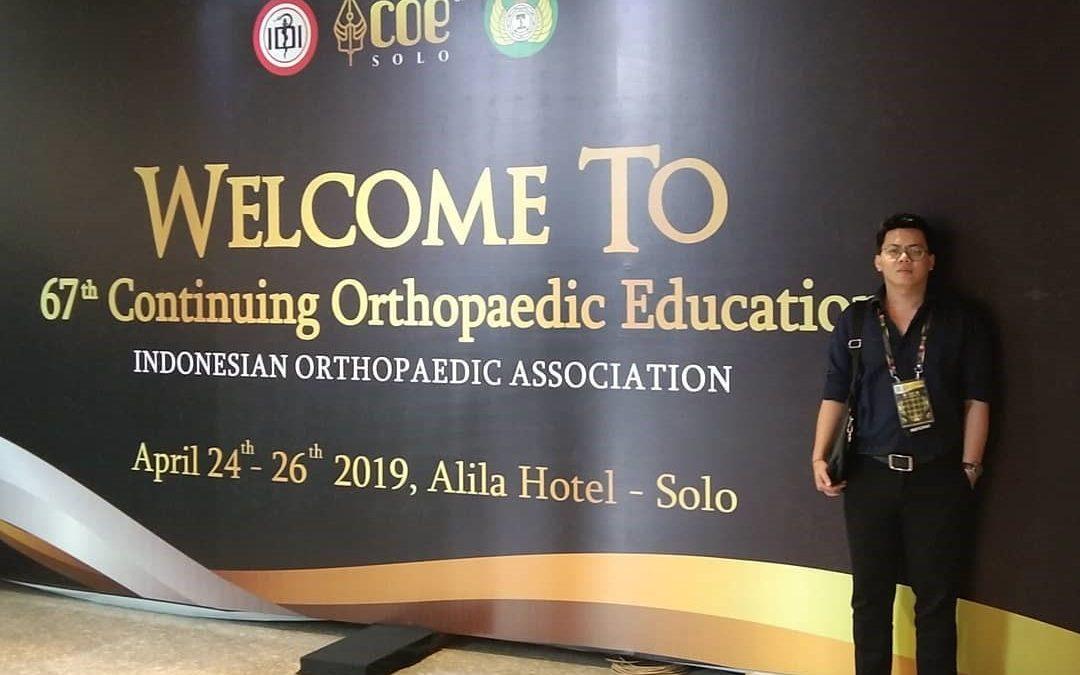 Undangan untuk menjadi pembicara dalam COE 2019 yang diselenggarakan oleh Indonesian Orthopaedic Association