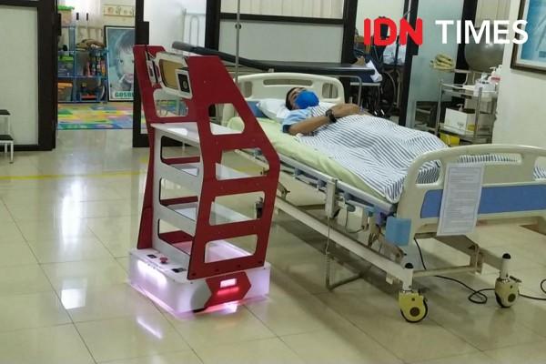RS di Semarang Pakai Robot Buatan Undip untuk Rawat Pasien COVID-19
